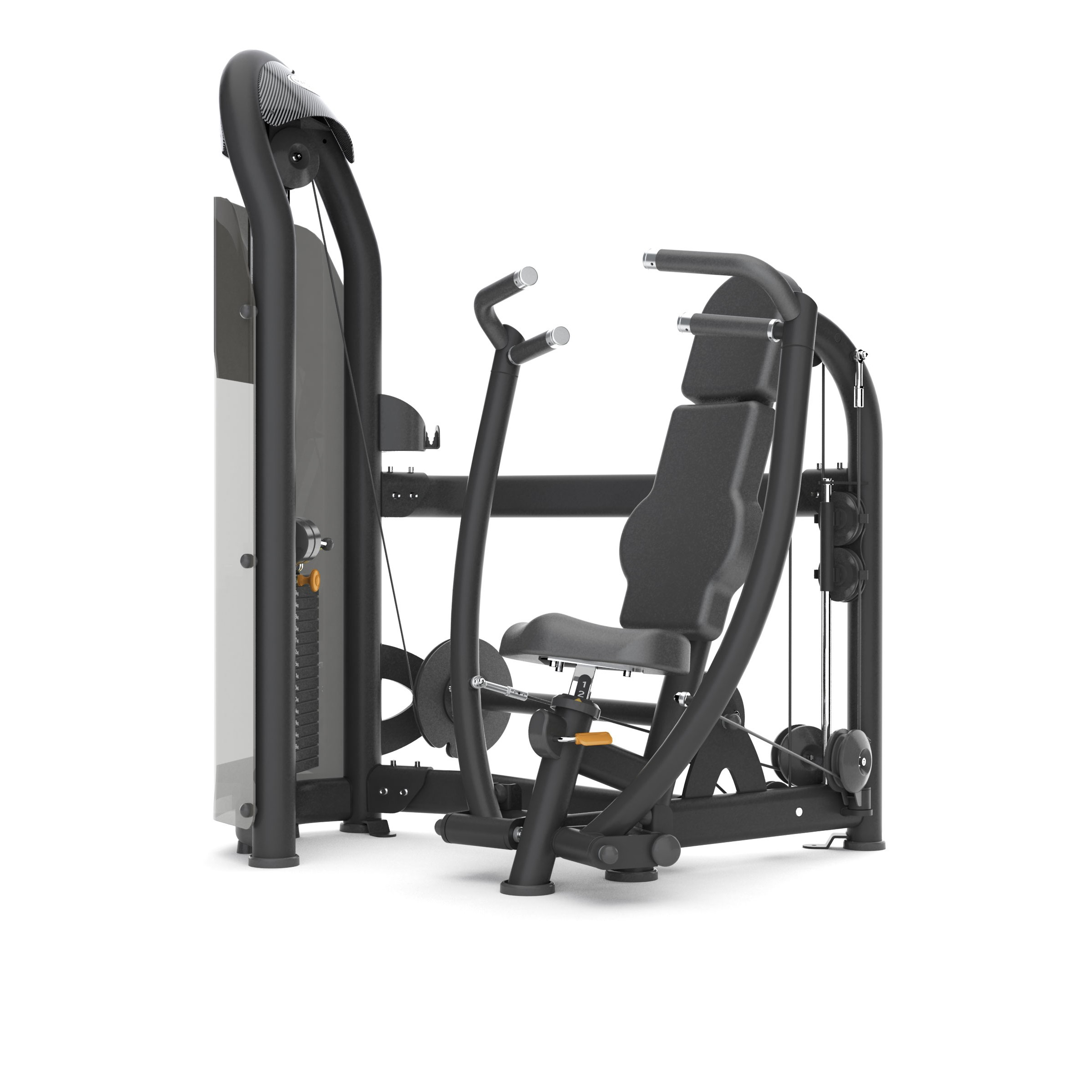 MX16_AURA G3-S13 converging chest press_Blk Matte_hero