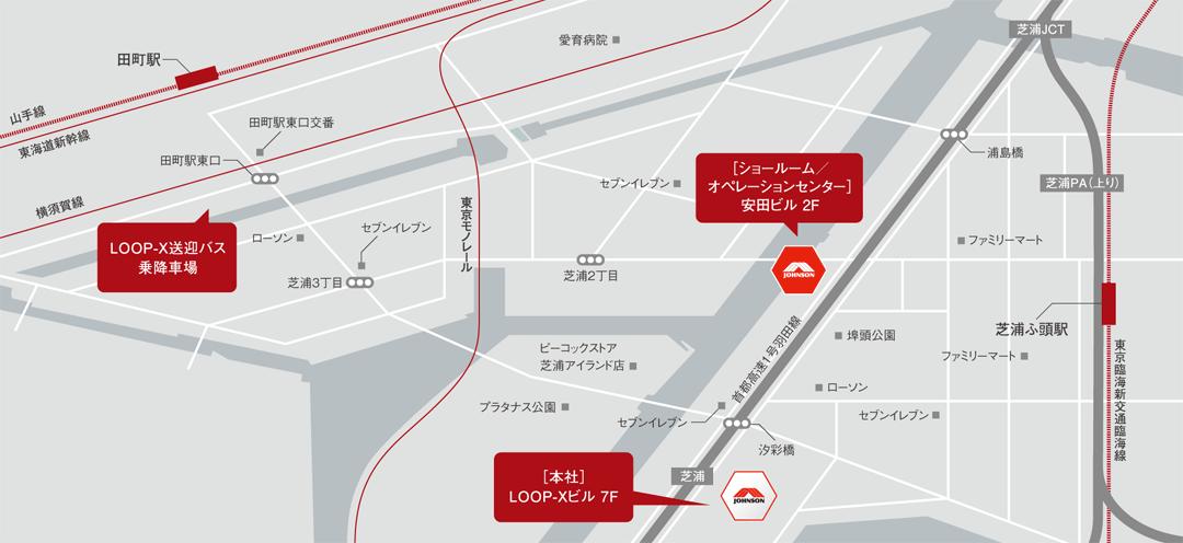 ジョンソンジャパン地図